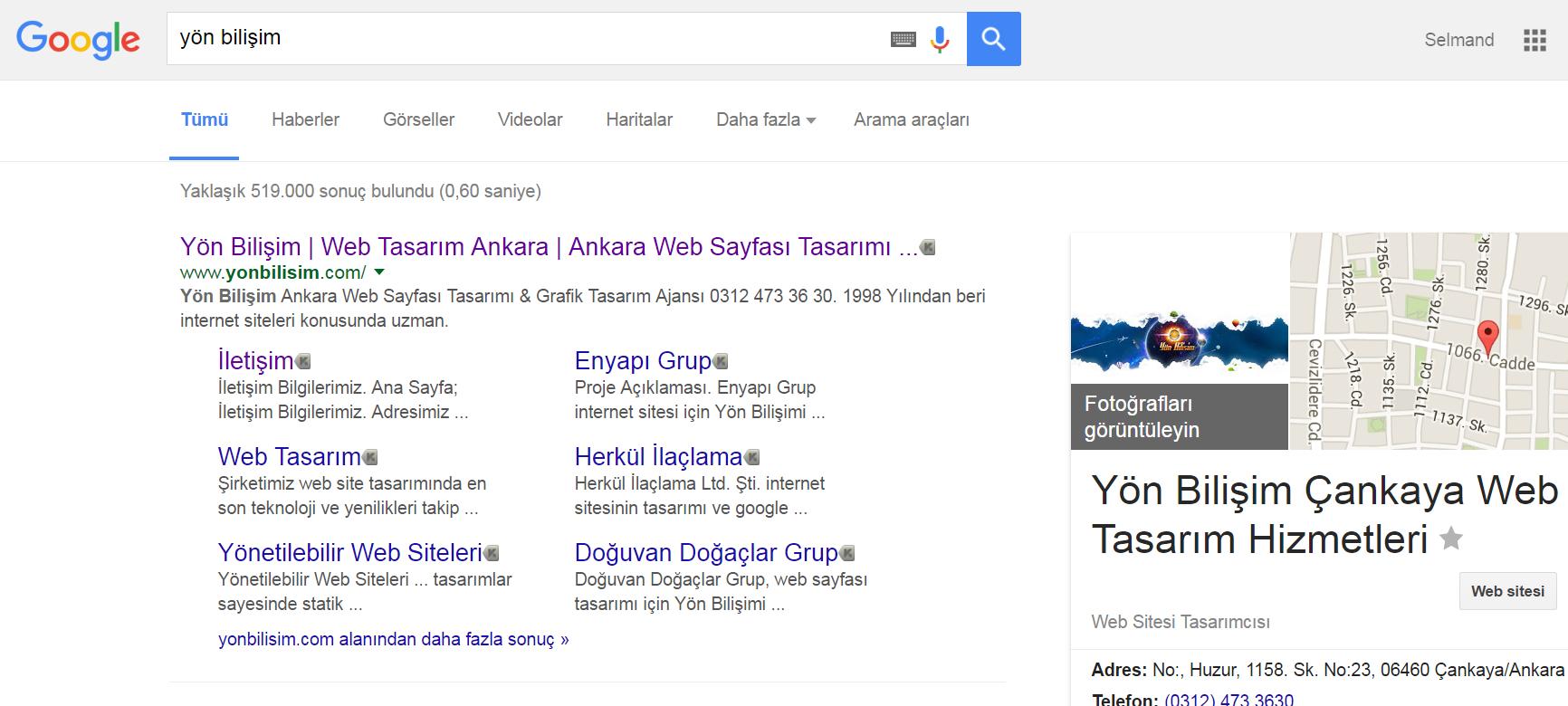 Yön Bilişim Google Mavi